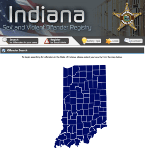 indiana sex offender registry