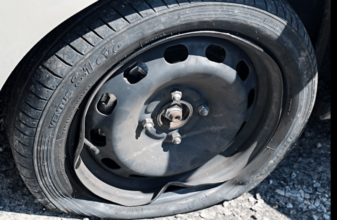call an indianapolis tow service if you need a flat tire