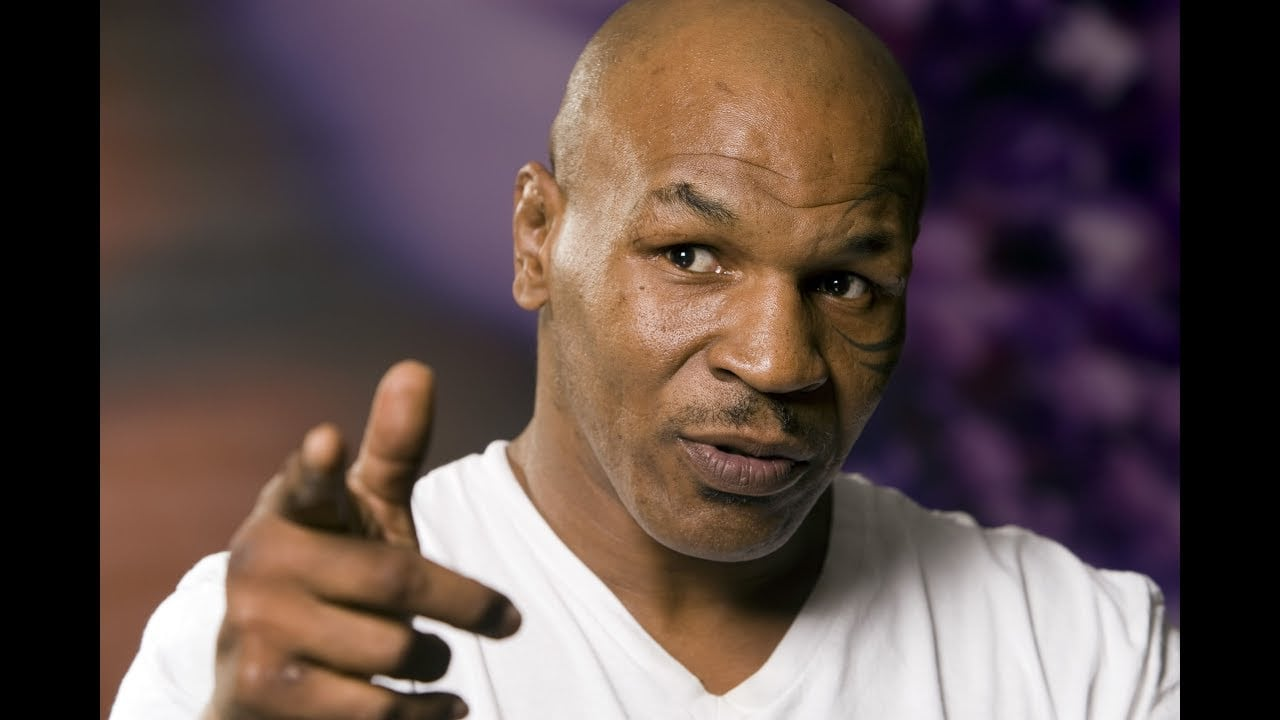 mike tyson throws drink at Don King