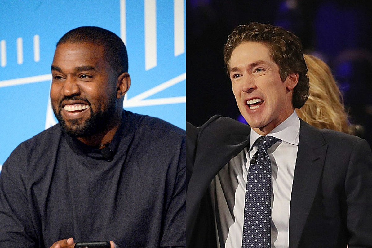 Kanye West Performing At Joel Osteen Church
